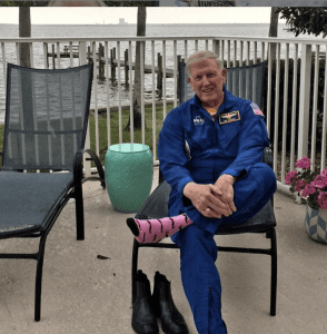 PinkSocks in space